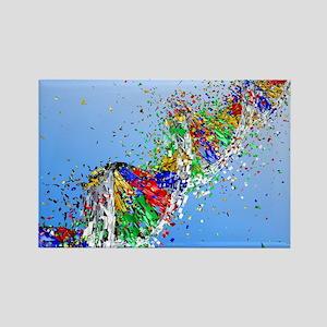 DNA damage, computer artwork - Rectangle Magnet