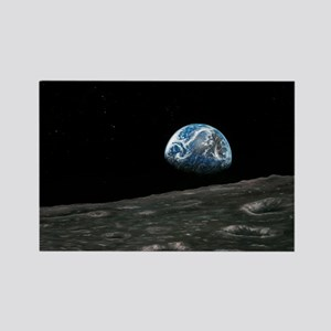 Earthrise photograph, artwork - Rectangle Magnet
