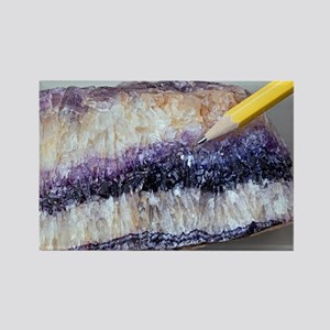 Fluorite crystals - Rectangle Magnet