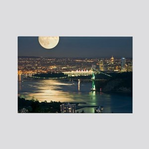 Full Moon over Vancouver - Rectangle Magnet