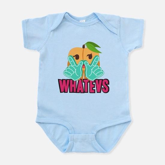 Emoji Peach Whatevs Infant Bodysuit