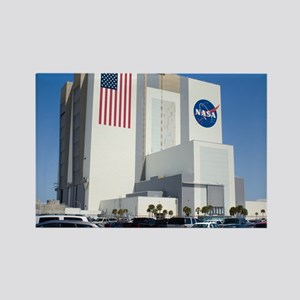 NASA vehicle assembly building - Rectangle Magnet