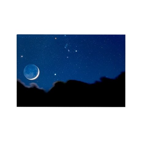 Night sky - Rectangle Magnet