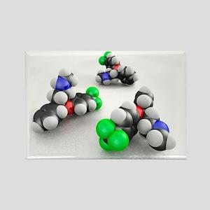 Prozac molecules - Rectangle Magnet