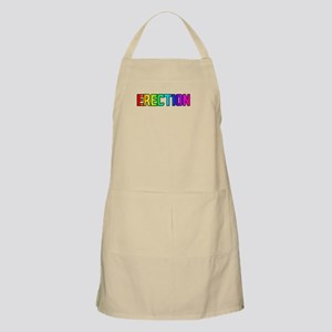 ERECTION RAINBOW TEXT BBQ Apron