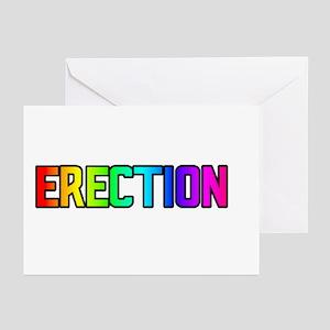 ERECTION/SLURP RAINBOW TEXT GreetingCards(Packof6