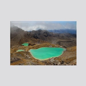 Volcanic lakes, New Zealand - Rectangle Magnet