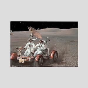 Apollo lunar rover, artwork - Rectangle Magnet