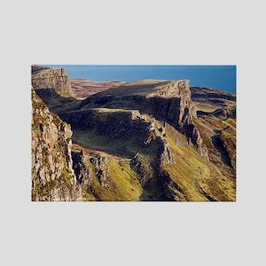 Basalt escarpments of Quirang - Rectangle Magnet