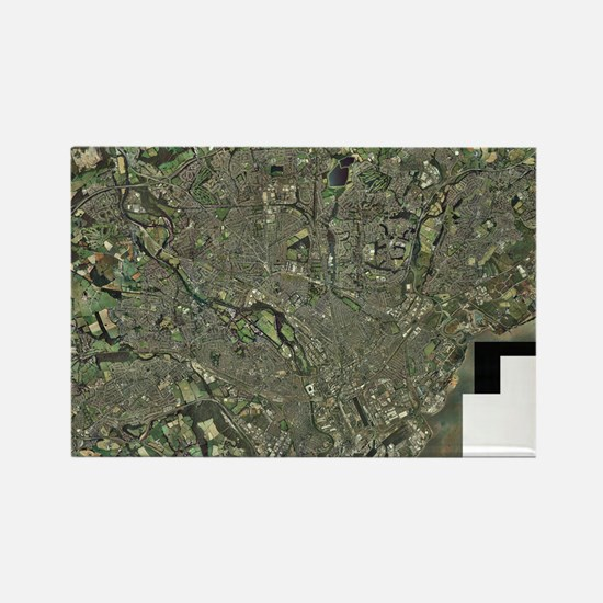 Cardiff, aerial photograph - Rectangle Magnet