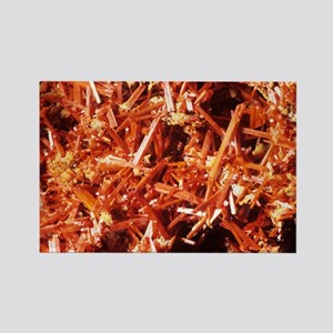 Crocoite mineral crystals - Rectangle Magnet