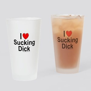 Sucking Dick Drinking Glass