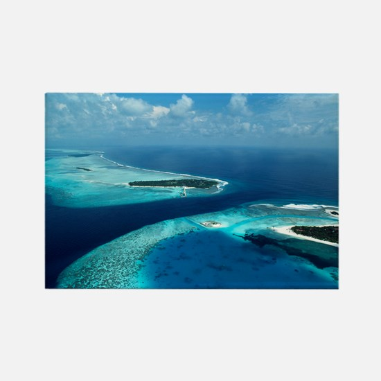 Coral islands - Rectangle Magnet