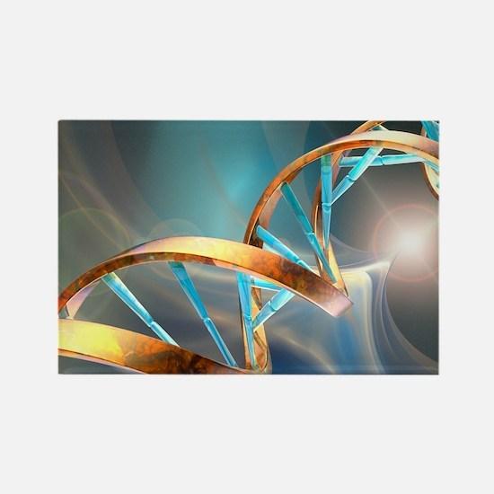 DNA molecule, artwork - Rectangle Magnet