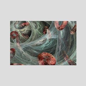Ebola viruses, artwork - Rectangle Magnet