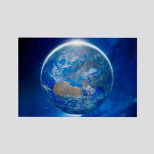 Earth from space, artwork - Rectangle Magnet