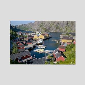 Fishing village, Norway - Rectangle Magnet