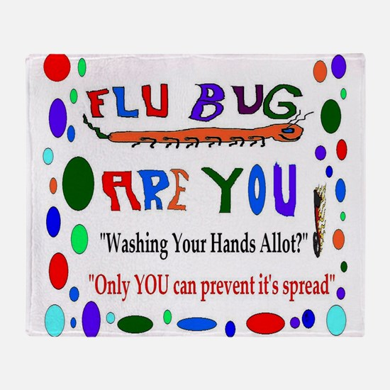 Flu Epidemic Funny Throw Blanket