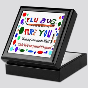 Flu Epidemic Funny Keepsake Box