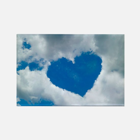 Heart-shaped cloud formation - Rectangle Magnet