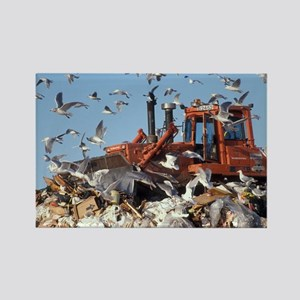 Landfill site - Rectangle Magnet