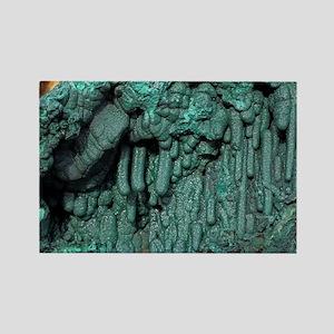 Malachite mineral sample - Rectangle Magnet
