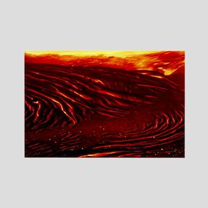 Lava flow - Rectangle Magnet