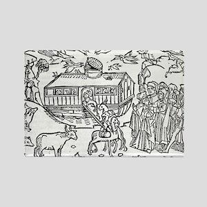 Noah's Ark, 16th-century bible - Rectangle Magnet