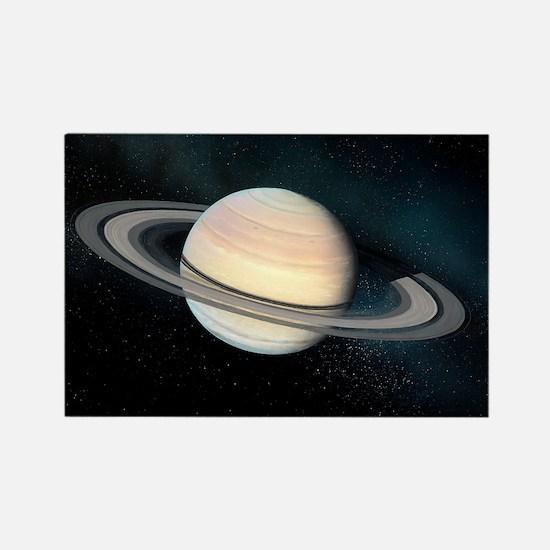 Saturn, artwork - Rectangle Magnet