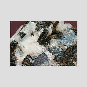 Siderite in cryolite matrix - Rectangle Magnet