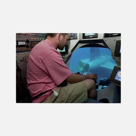 Submarine Rescue Unit training - Rectangle Magnet