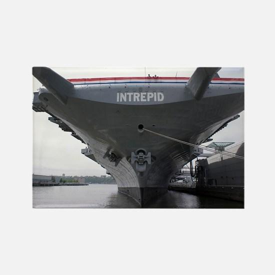 USS Intrepid aircraft carrier - Rectangle Magnet