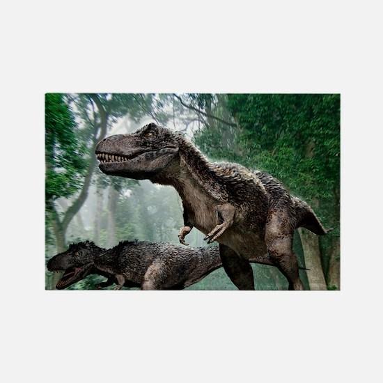Tyrannosaurus rex dinosaurs - Rectangle Magnet