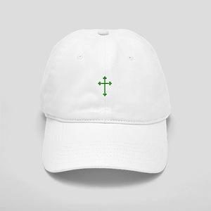 Pretty green christian cross 1 U W Baseball Cap