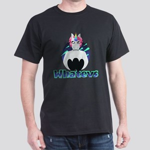Emoji Unicorn Whatevs Dark T-Shirt