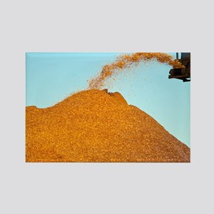 Wood chip production - Rectangle Magnet