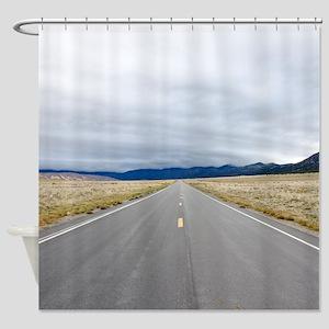 Open Roads Shower Curtain