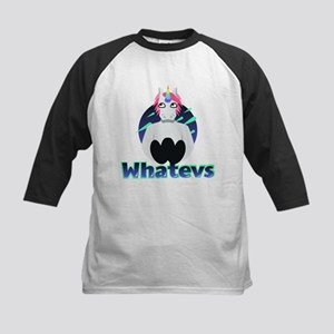 Emoji Unicorn Whatevs Kids Baseball Tee