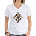 Celtic Rock Knot Women's V-Neck T-Shirt