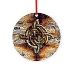Celtic Rock Knot Ornament (Round)