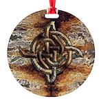 Celtic Rock Knot Round Ornament