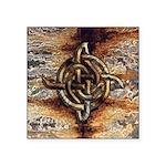 Celtic Rock Knot Square Sticker 3