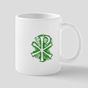 Pretty green christian cross 2 L e Mug