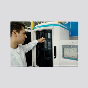 Automated blood bacteria tests - Rectangle Magnet