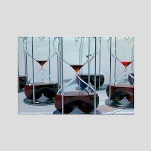 Blood bank, conceptual artwork - Rectangle Magnet