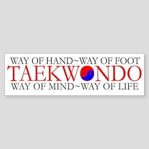 TKD Philosophy Bumper Sticker
