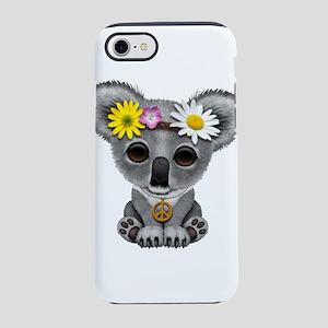 Cute Baby Koala Hippie iPhone 7 Tough Case
