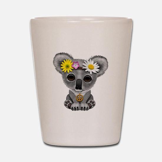 Cute Baby Koala Hippie Shot Glass