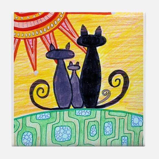 Catlover Tile Coaster