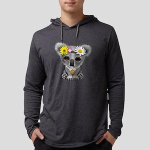 Cute Baby Koala Hippie Mens Hooded Shirt